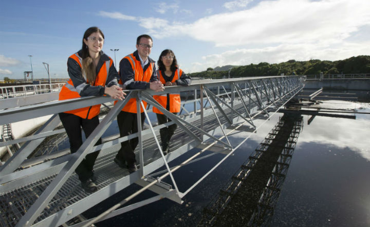 Watercare workers at the Mangere Wastewater Treatment Plant