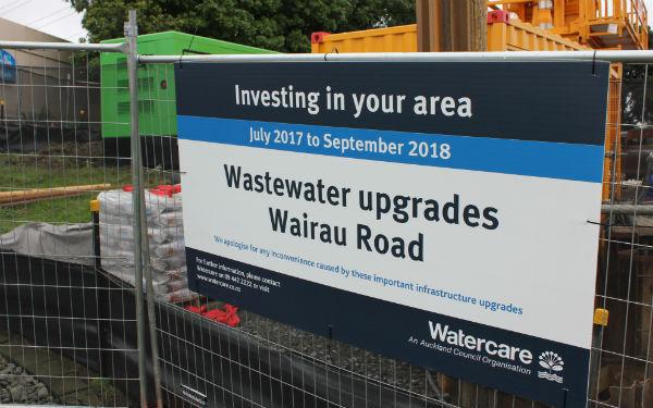 Wairau Road wastewater upgrade