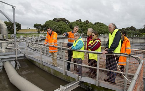 Visitors at the Māngere Wastewater Treatment Plant open day in 2017.